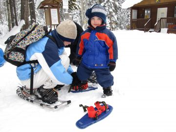 Snowshoeing kelowna